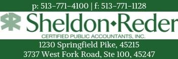 Sheldon Reder Logo and Company Information Badge.