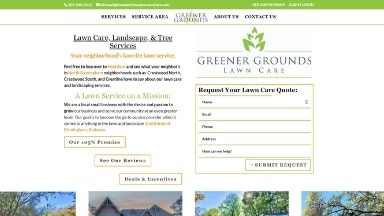 Greener Grounds Lawn Care Website