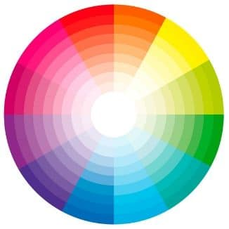 Graphic of a color wheel.