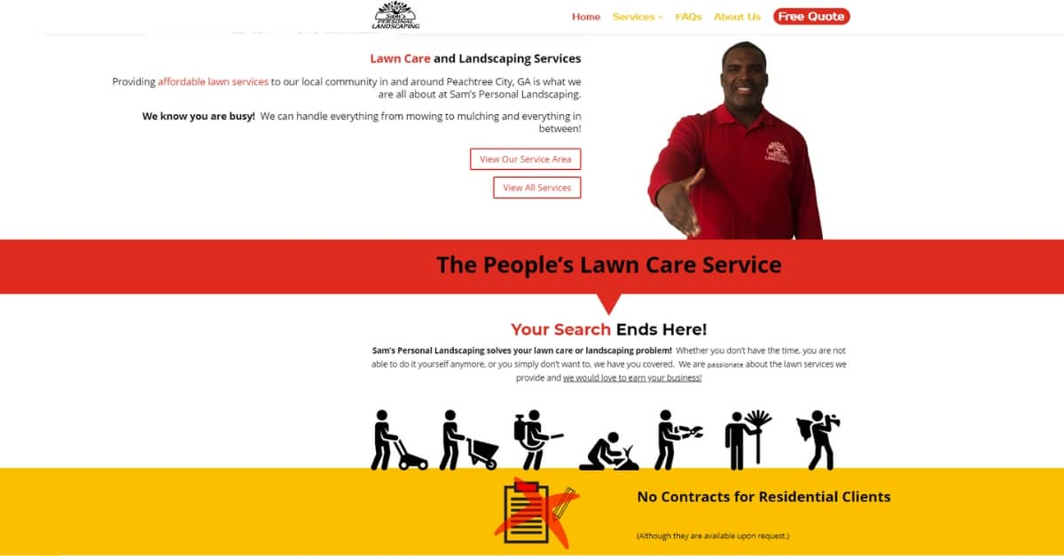 Atlanta Lawn Care Website