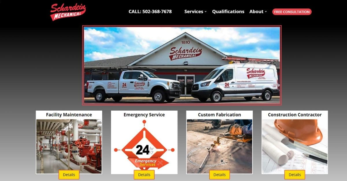 HVAC Website In Louisville KY