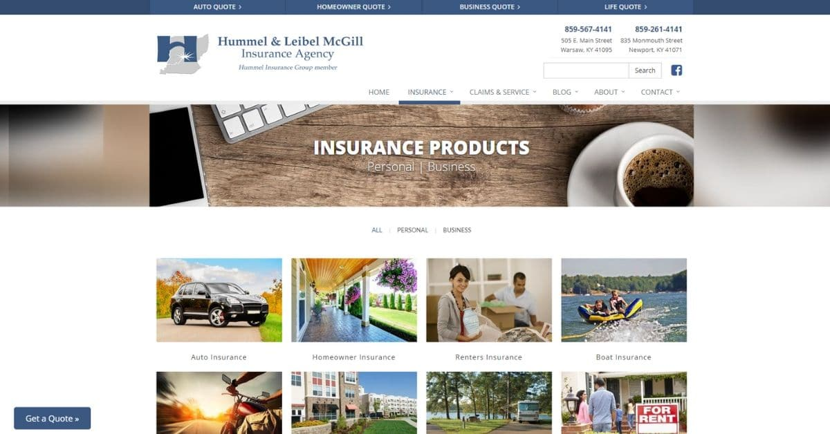 Insurance Company Website