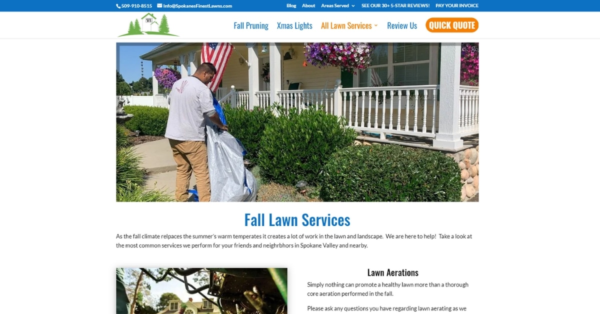 Spokane WA Lawn Care Website 2