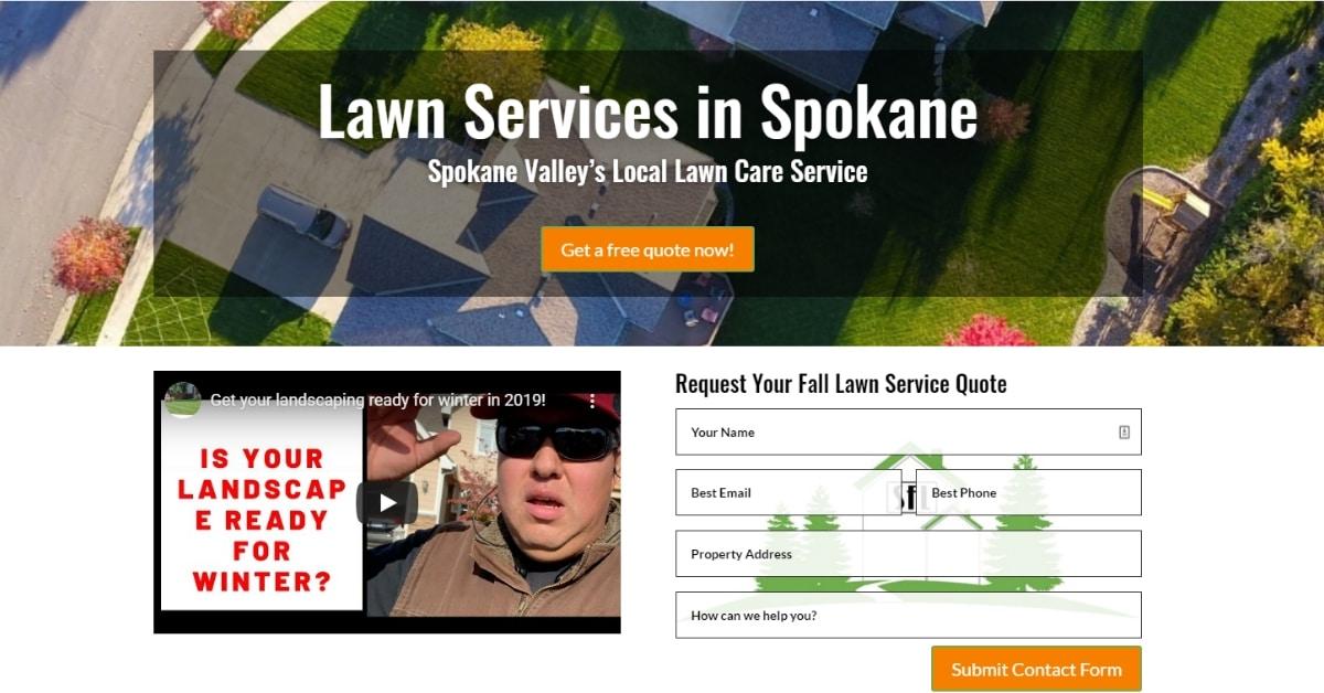 Spokane WA Lawn Care Website