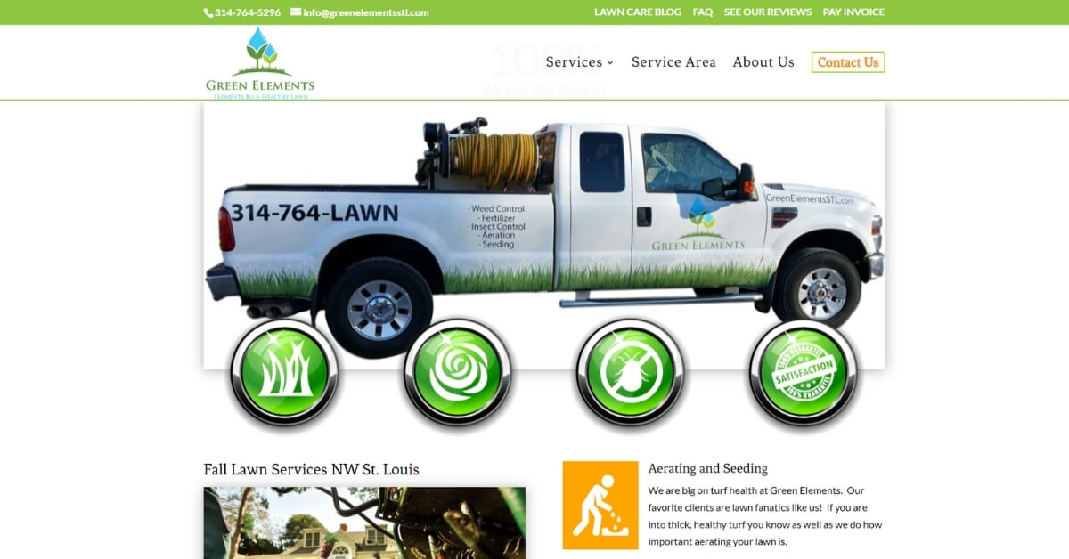 St Louis Lawn Care Service Website