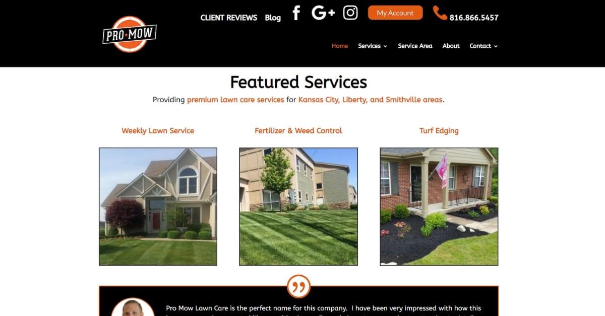 Kansas City Lawn Care Website